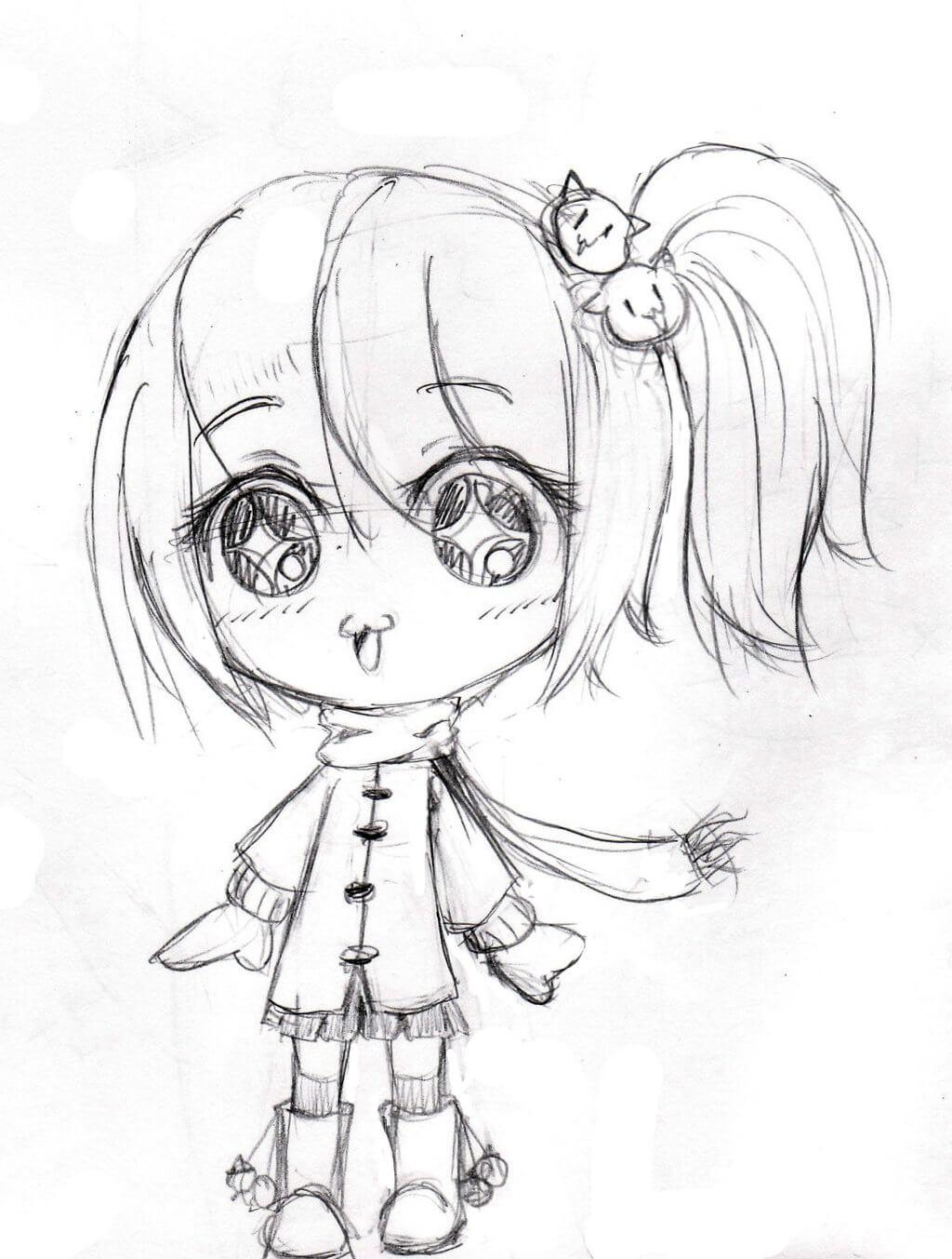 Картинки для срисовки карандашом мини девочки
