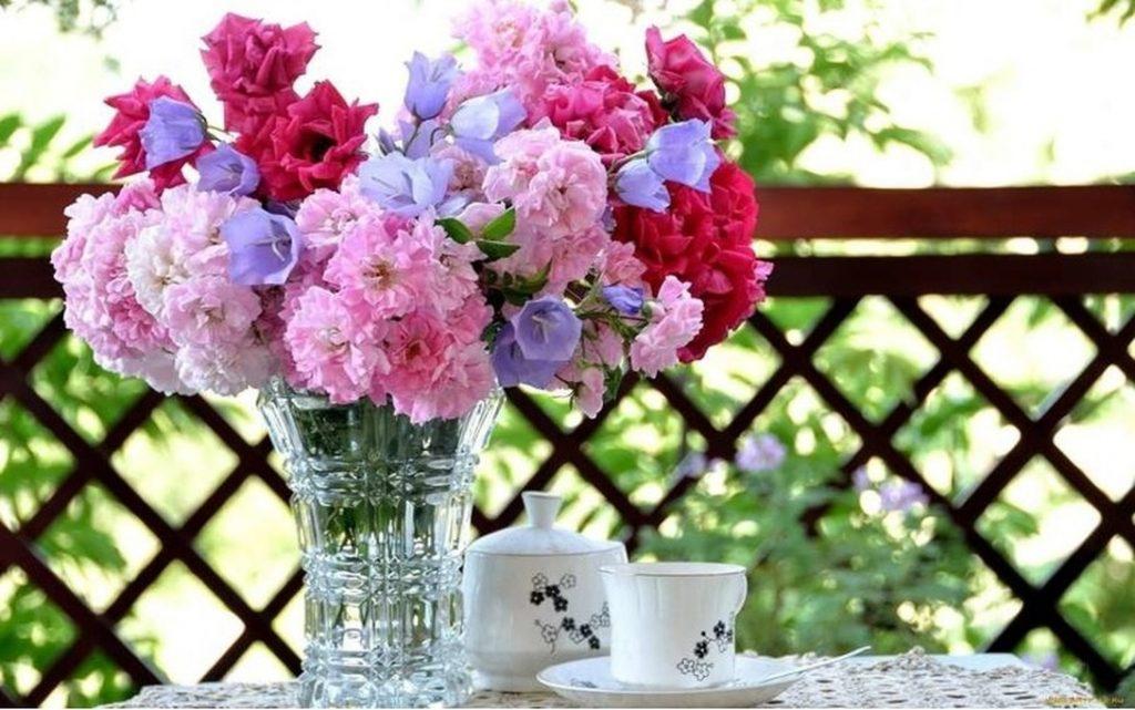 Картинки красивые утренние цветы