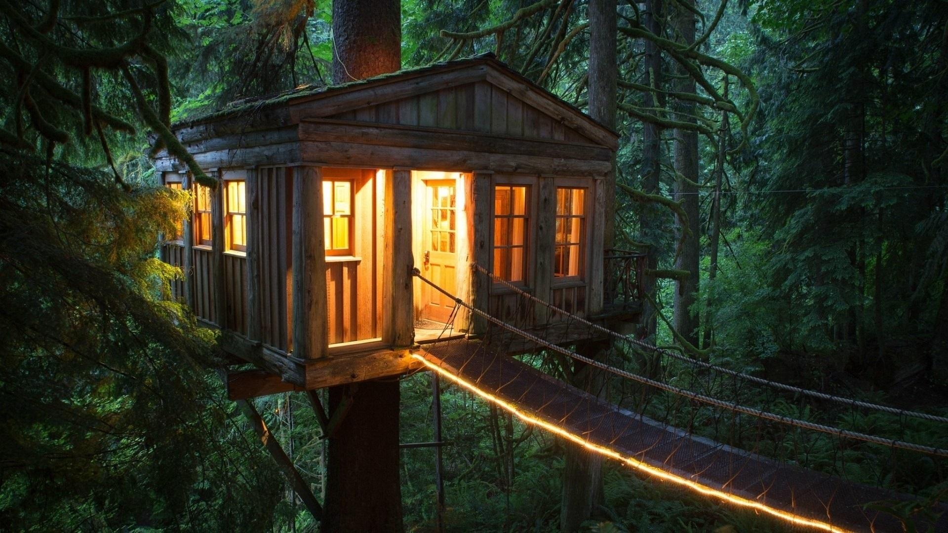 Картинки дом в лесу на телефон