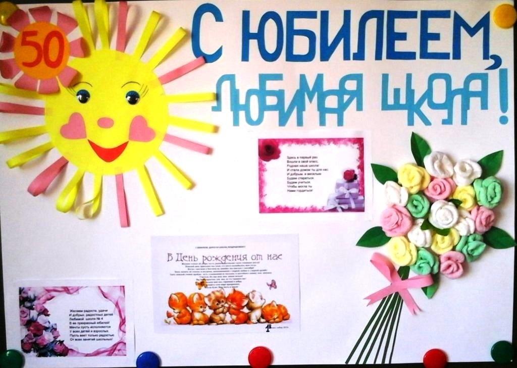 Поздравительная открытка к дню рождения школы