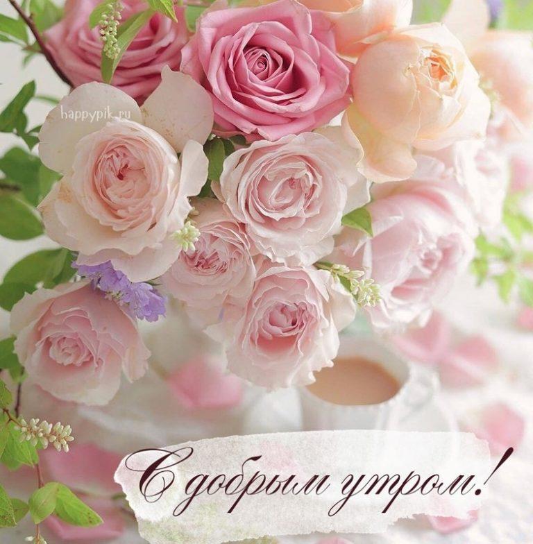Открытку новым, красивые букеты цветов картинки с добрым утром