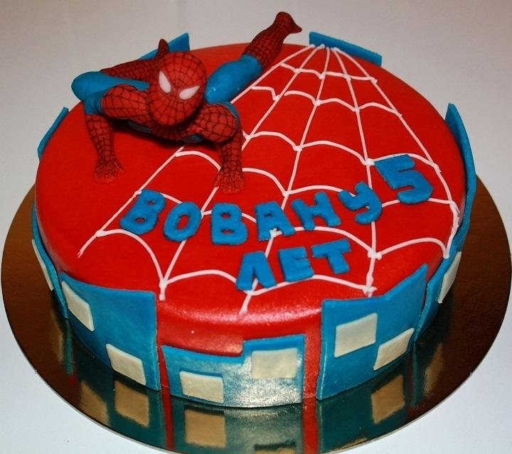 торты для мальчиков фото человек паук
