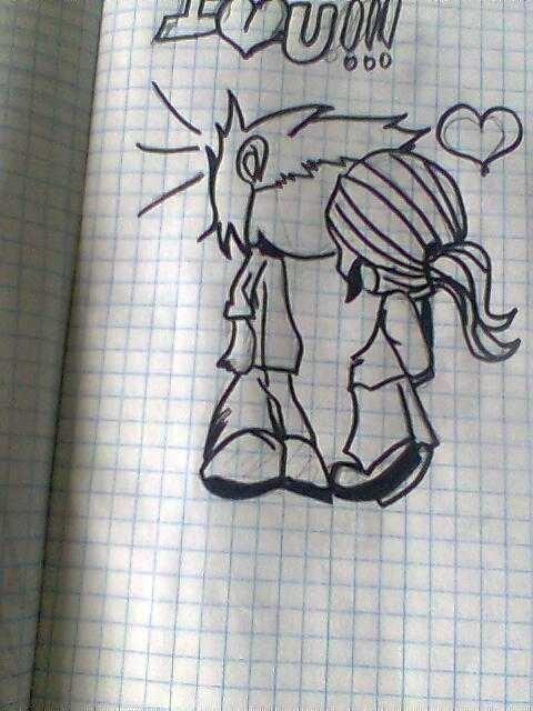 Годик, рисунок для любимой девушки ручкой