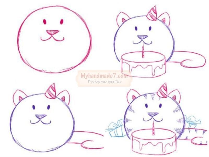 Как нарисовать открытку на день рождения маме видео, прикольные