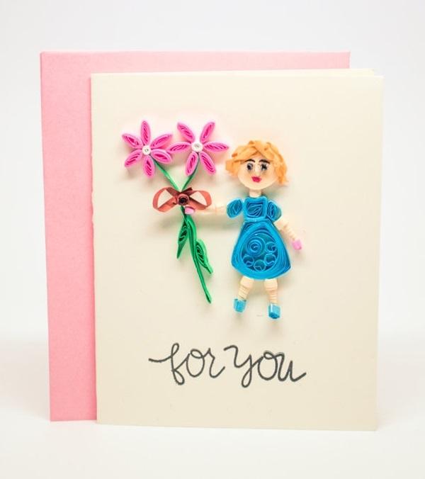 Открытка на день рождения мамы от дочки своими руками легкие, открытки для
