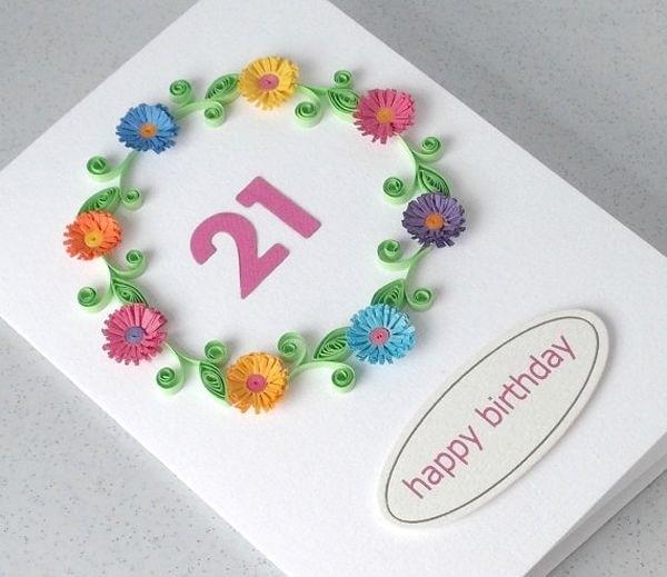 Открытки своими руками на день рождения 35