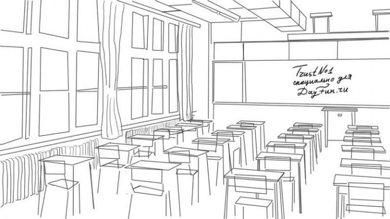 Рисунки классной комнаты