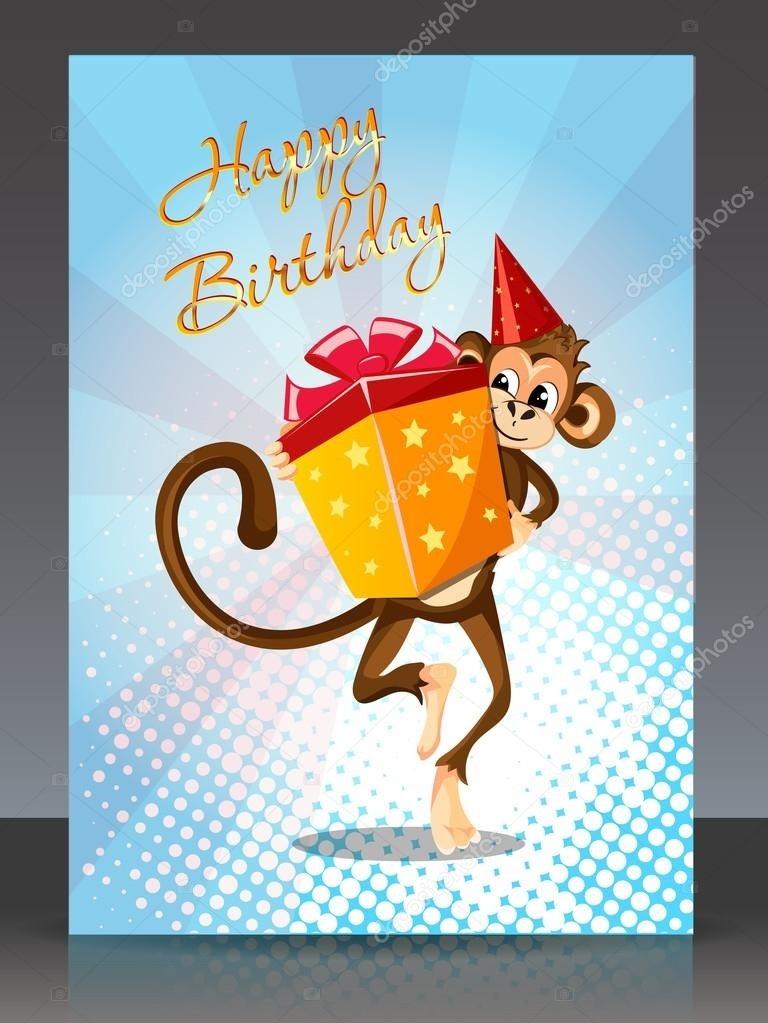 Картинки обезьянки с днем рождения, бумаги
