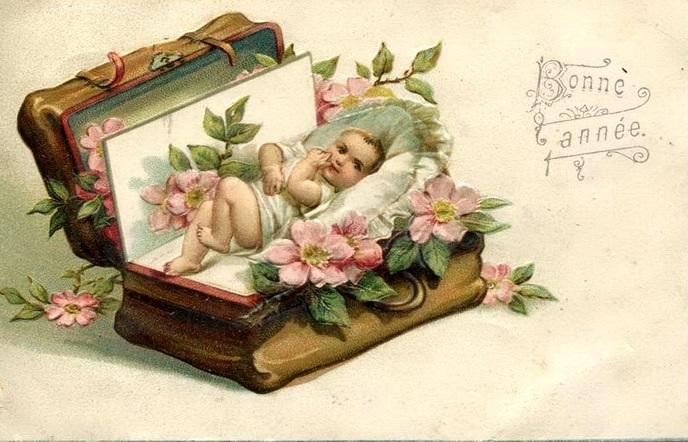 Антикварные открытки с днем рождения