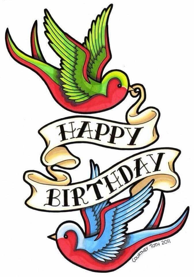 Дню, открытки с днем рождения с татуировкой