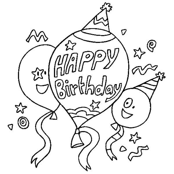 Картинка с днем рождения трафарет для распечатки