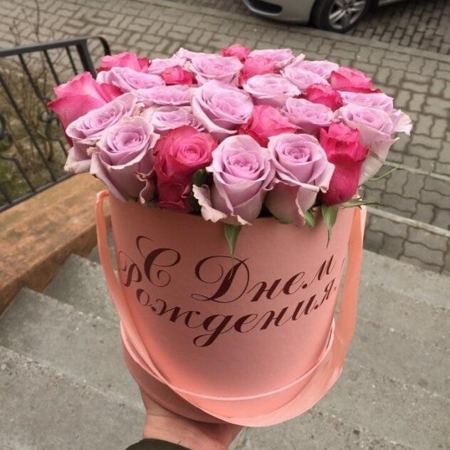 Открытка с днем рождения девушке цветы в коробке, картинки