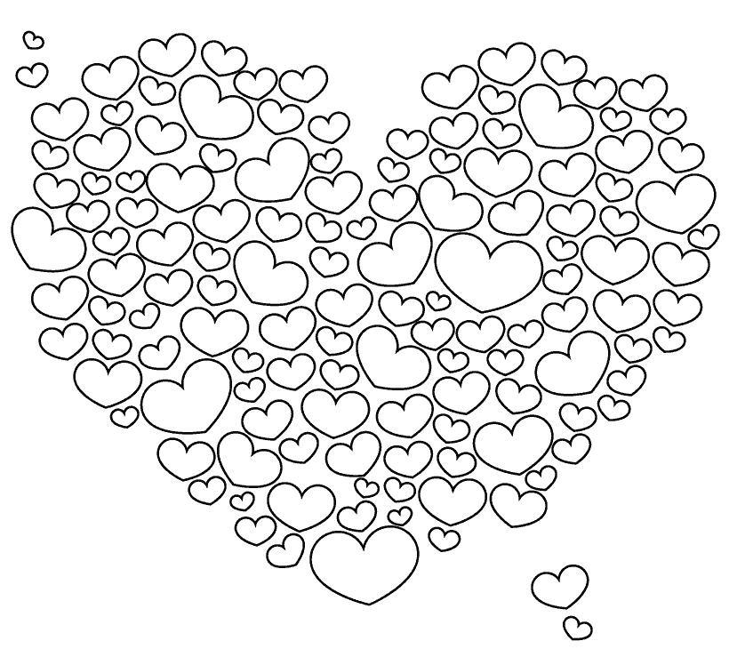 Антистресс сердце раскраска - подборка