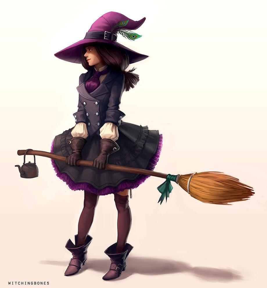 Картинки арт ведьмочки