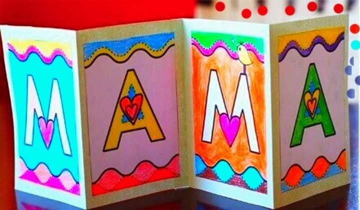 Какие открытки можно сделать для мамы, прыжка