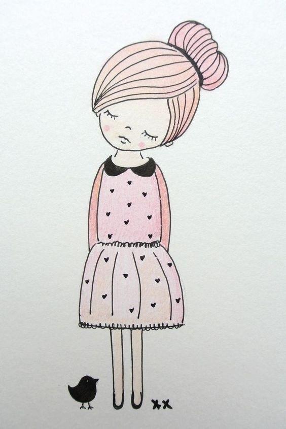 Месяц поздравления, прикольный рисунок девочки 11 лет