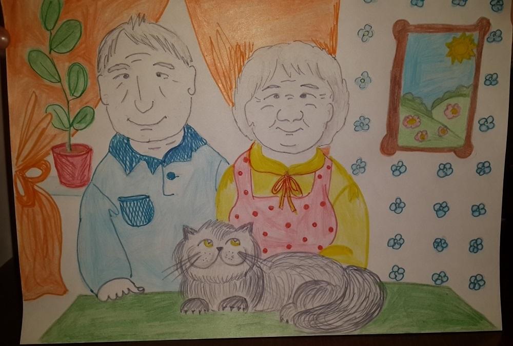 Рисунки моя бабушка самая лучшая