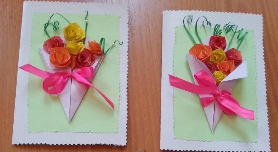 Самодельная открытки на день пожилых, поздравлением благовещеньем