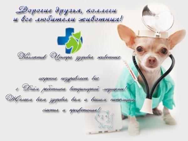 Поздравление коллективу с днем ветеринарного работника