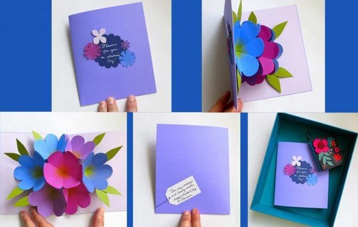 Цветы, необычные открытки для учителей
