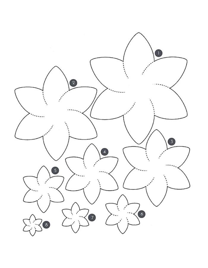 Шаблоны объемных цветов для открытки на 8 марта, мая клипарт крым
