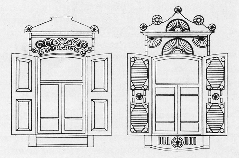 окна в старину картинки рисунки что необходимо отметить