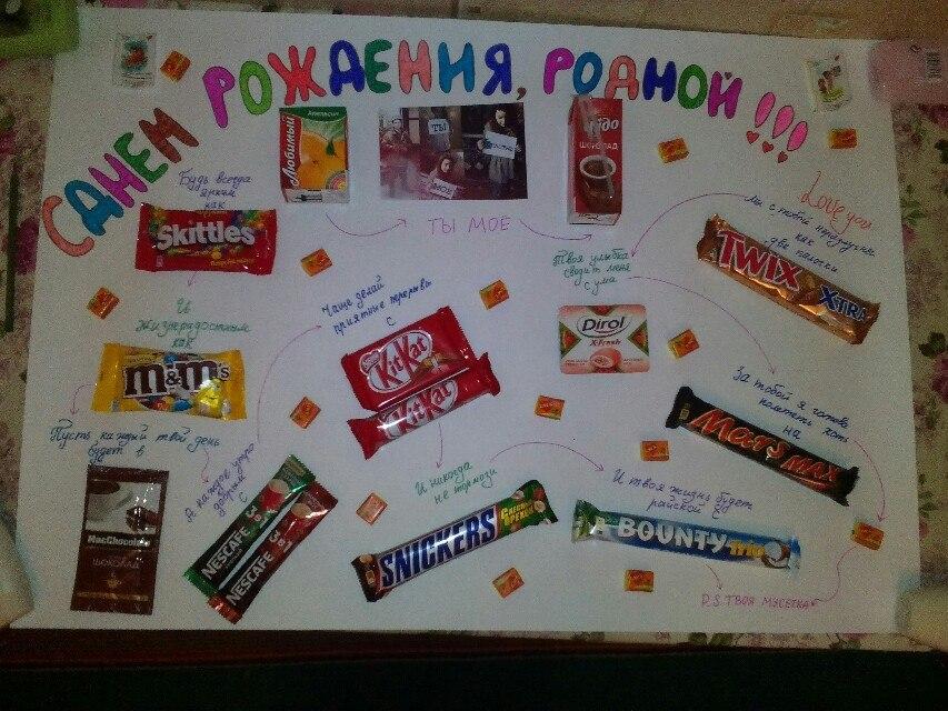 Днем бухгалтера, открытки со сладостями на день рождения