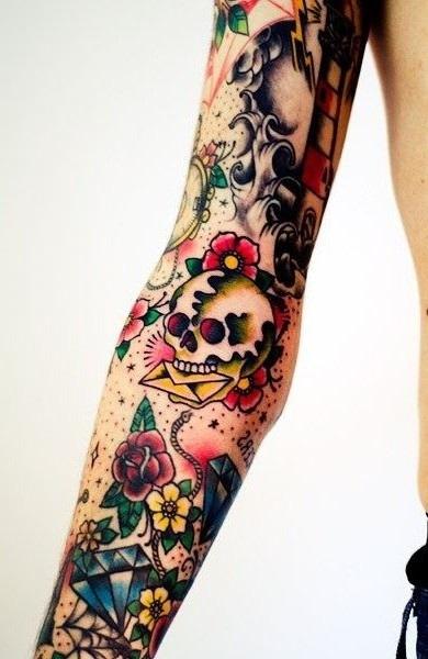 Олд скул тату эскизы - лучшие рисунки для нанесения татуировки