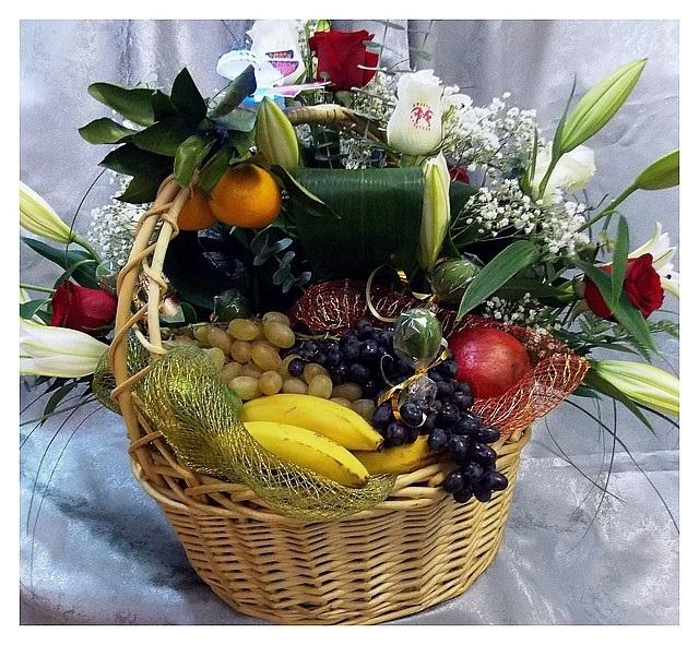 поздравления к подарку ваза с фруктами для женщин рощах