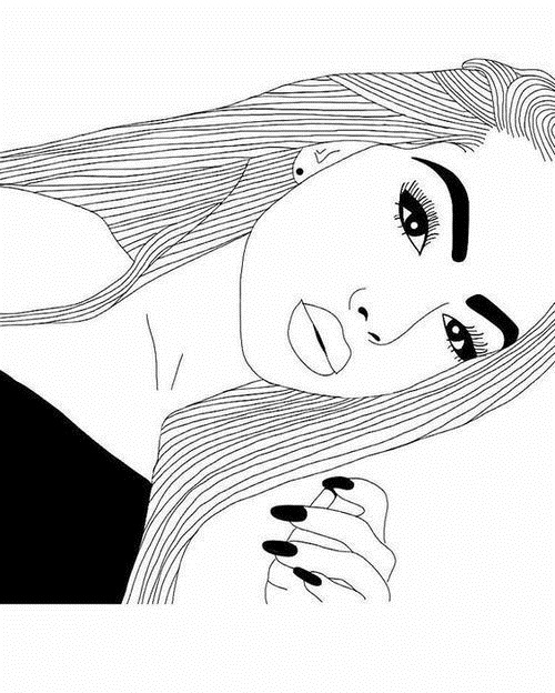 Рисованные черно белые картинки