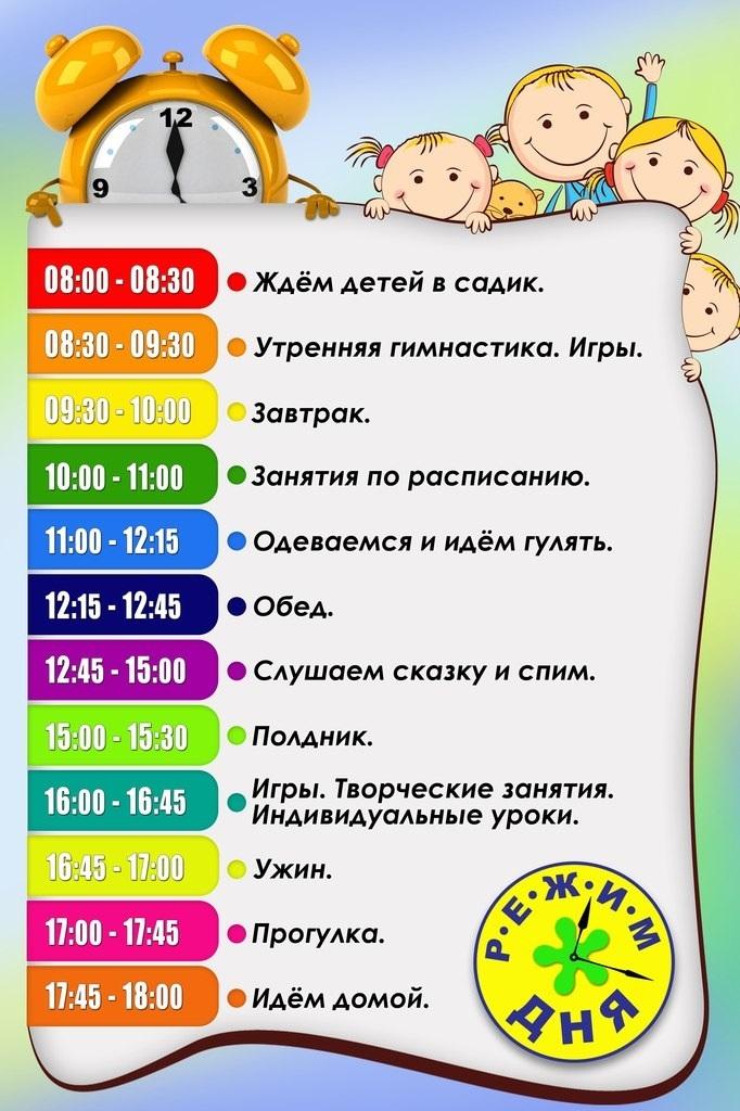 Распорядок в детском саду с картинками