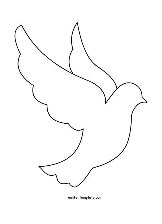 Шаблон открытки с голубями