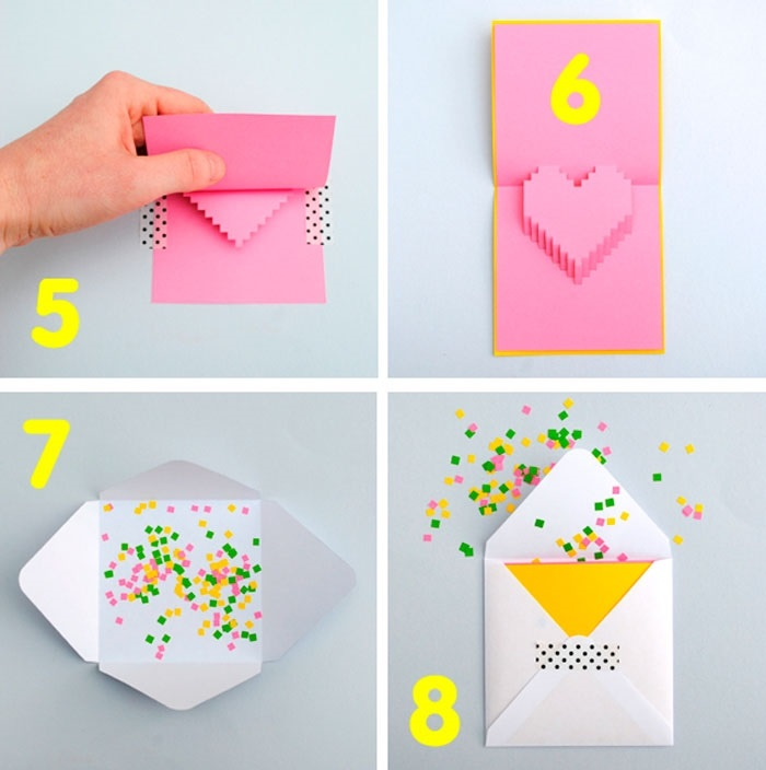 Сделать открытку из простой бумаги