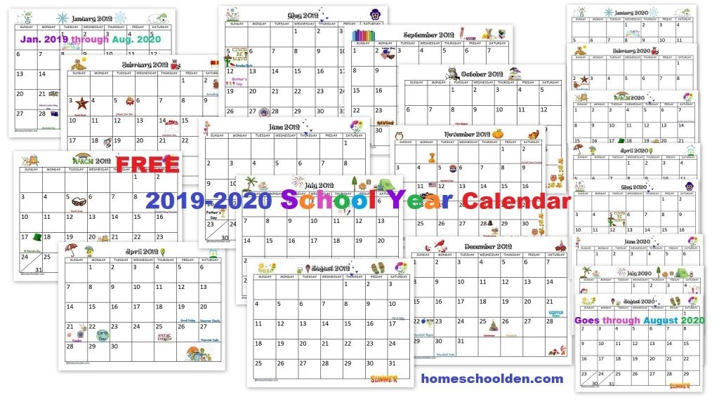 Printable 2019 2020 calendar monthly 002