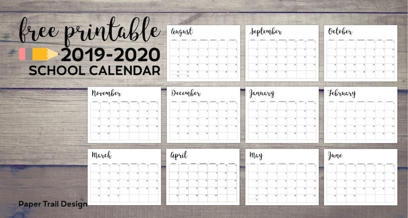 Printable 2019 2020 calendar monthly 011