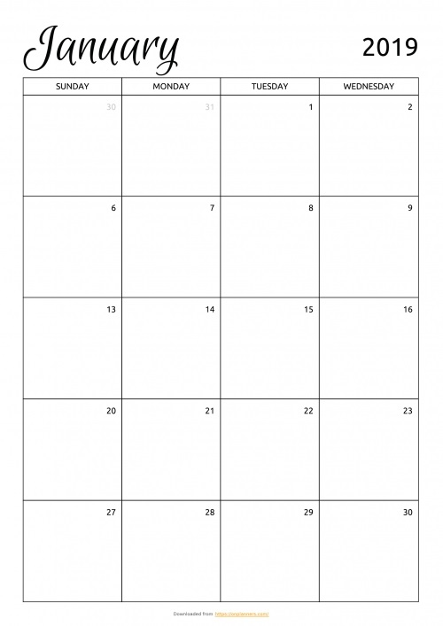 Printable 2019 2020 calendar monthly 013