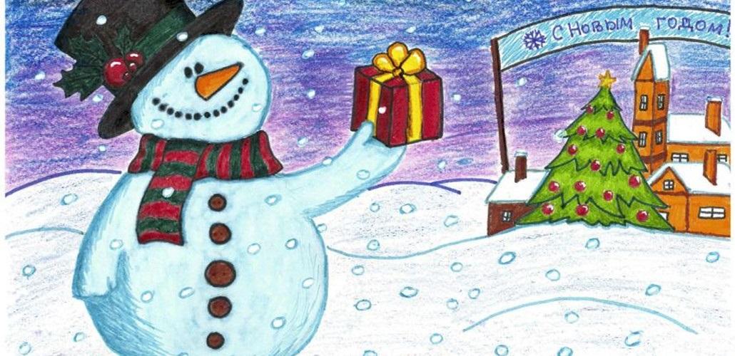 Нарисовать открытки на новый год