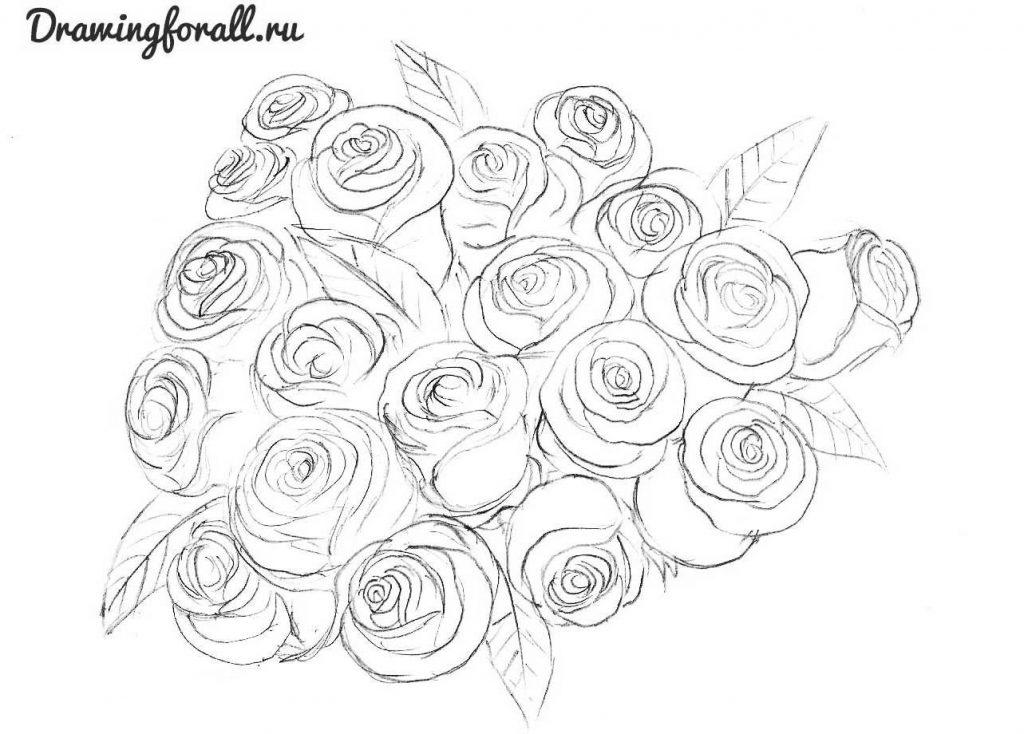 Как нарисовать на открытки цветок