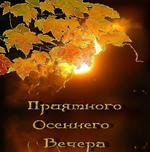 Открытки добрый вечер осенние красивые