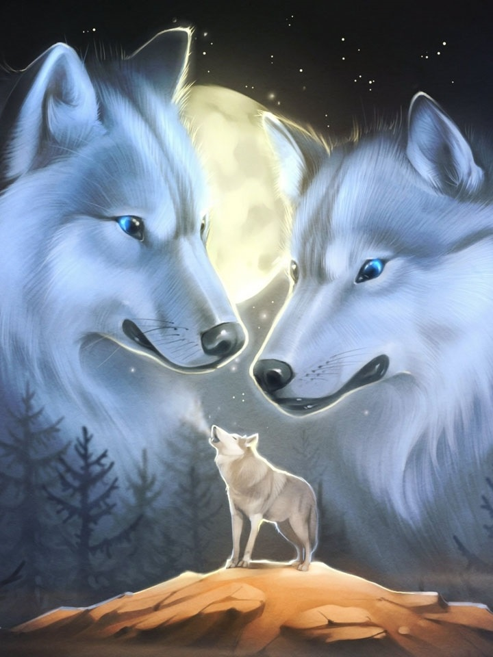 Картинки с анимацией и волком