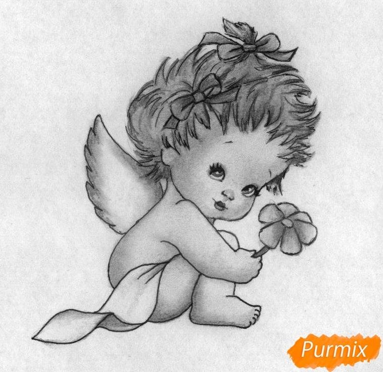 Картинки для срисовки ангелочки