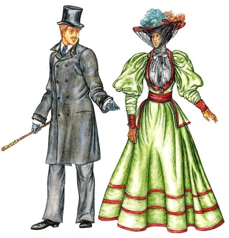 Мужская мода в картинках история