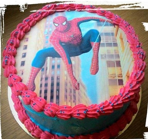 торт с сахарной картинкой человек паук фото сфинксы появились