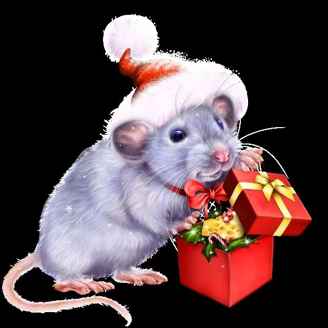 Обои на рабочий стол новый год 2020 зима мышь
