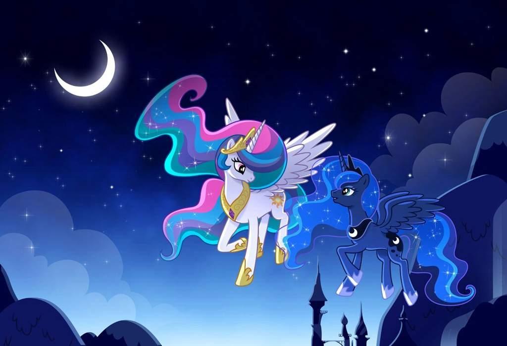 Красивые картинки май литл пони принцесса Селестия и Луна