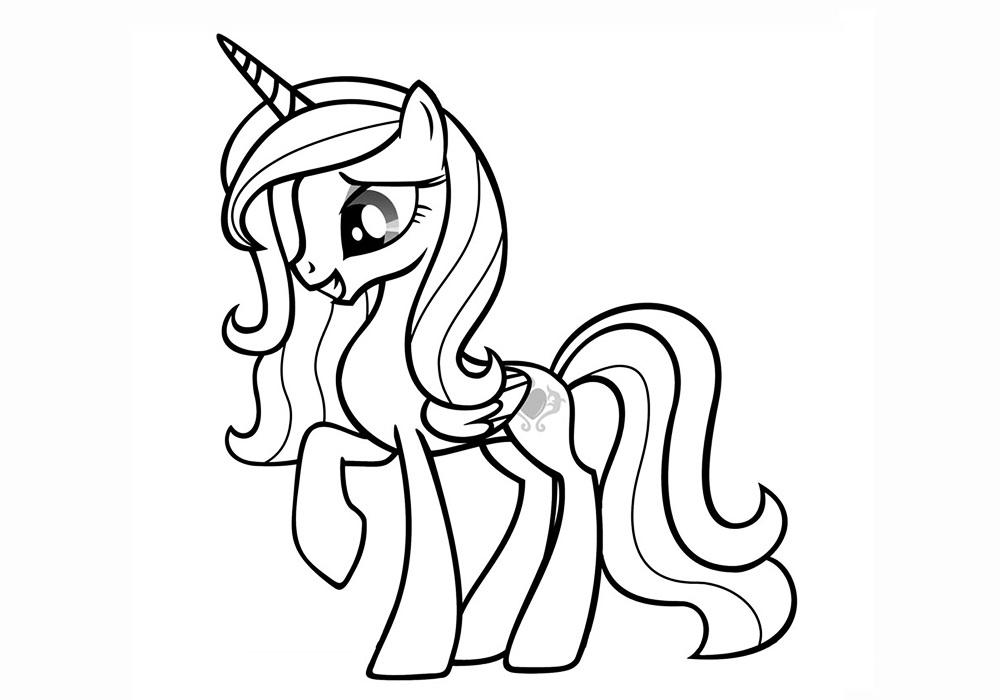 Картинки для раскраски пони - лучшие