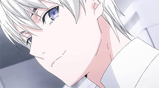 Крутые аниме парни с белыми волосами и красными глазами